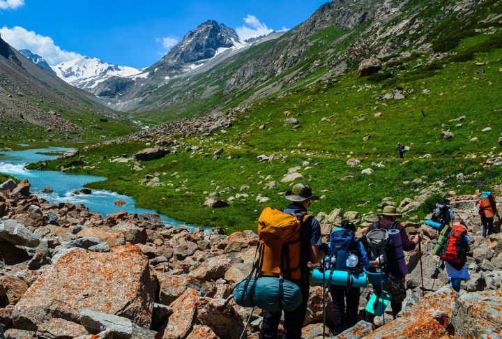 Radial trekking in Karakol valley