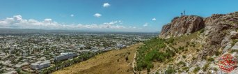 Panoramic view from Sulaiman Too, Osh