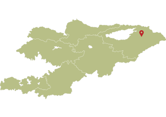 Location of Ala-Kol lake
