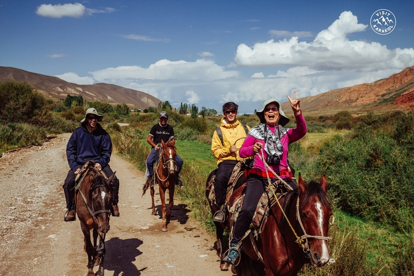 Horseback riding at Chon Kyzyl-Suu