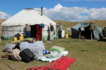 Collecting of nomad's yurt
