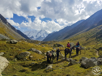 Horseback riding to Peak Karakol