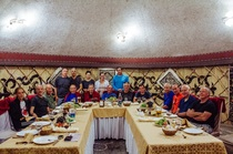 Group picture in Supara restaurant