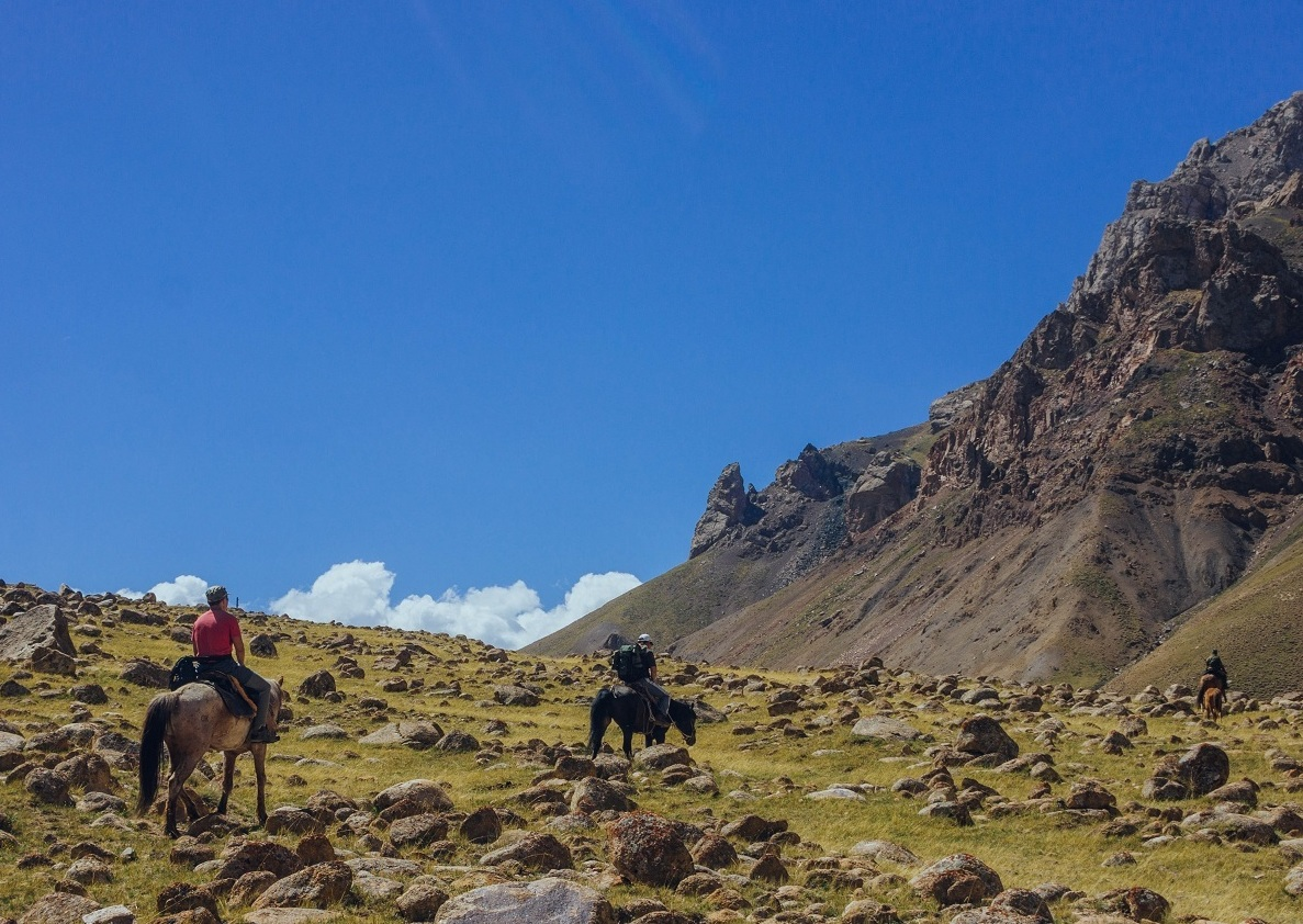 Horseback riding in Celestial Mountains