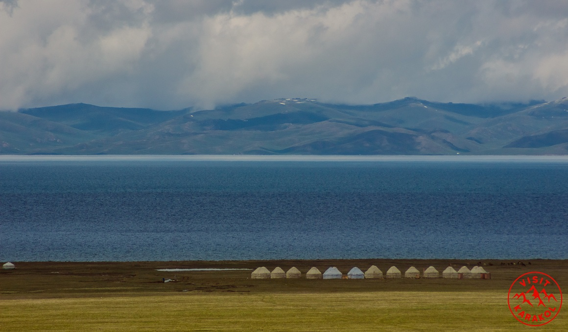 Yurt camp on Son-Kul Lake