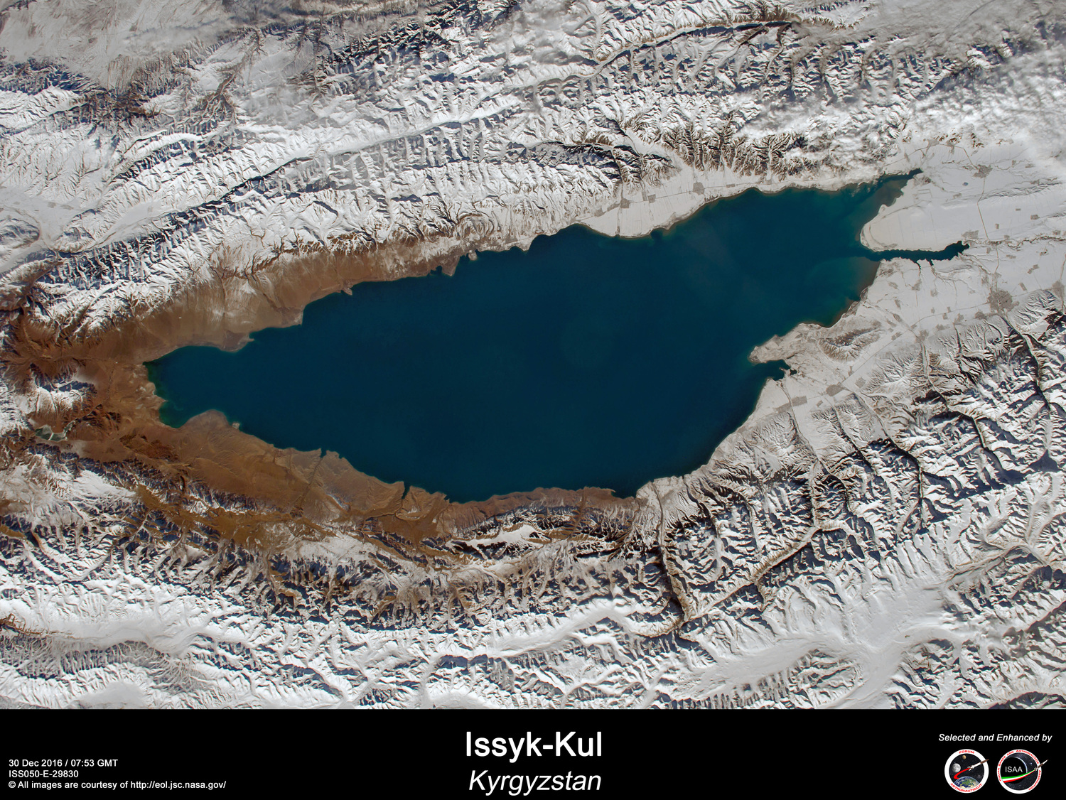 Issyk-Kul lake from space